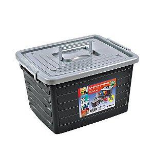 Caixa Organizadora Container Com Rodas 30 Litros 25165 Arqplast