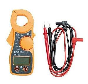 Alicate Amperimetro Digital Aviso Sonoro Mt87 Ac/dc Diodo - Eda