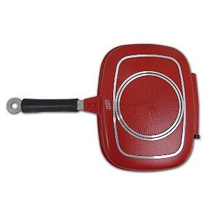 Grill Duplo Injetado Aluminio Vermelho 32X24 8665 MTA