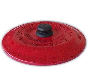Tampa De Fritura Vermelha 24 cm - Dona Chefa