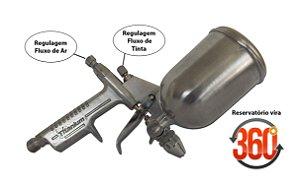 Pistola De Pintura Precisão K3 Tipo Aerógrafo Bico 0,5mm