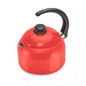 Chaleira Vermelha 1 Litro Antiaderente Dona Chefa 0.115