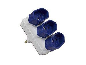 Plug Adaptador de Tomada com 3 saidas 10A