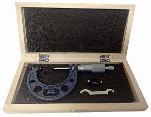 Micrômetro Externo Abertura 25-50 Mm Escala 0.01mm C/ Estojo 1ZW EDA