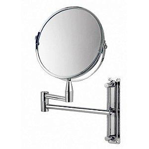 Espelho Aumento Articulado 16 cm Dupla Face 360º MOR