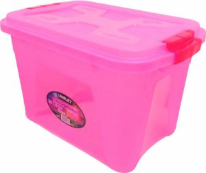 Caixa Organizadora Multiuso 20 Litros Rosa Uninjet