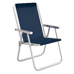 Cadeira Alta Conforto Aluminio Azul Sannet MOR