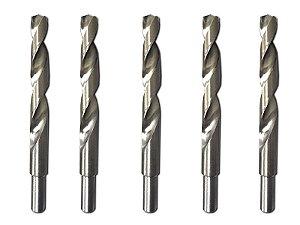Kit 5 Peças Broca De Aço p/ Metal Rápido 16 Mm Polida 720609 Mtx