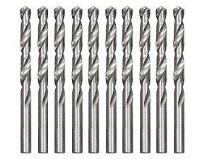 Kit 10 Brocas Polida P/ Metal Hss 8,5 Mm 715859 Mtx