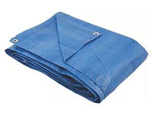 Lona Azul Reforçada  4x4 metros 70 Grs 100 micras AJAX