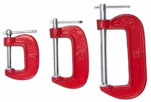 "Jogo Grampo ""C"" 3 pçs 1""2""3"" 3KW EDA"