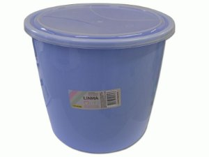Balde Redondo 6 Litros Amore PP Azul Uninjet