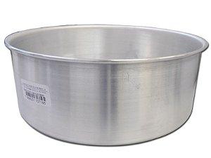 Forma de Bolo Reta Redonda nº 30 em Alumínio AAL