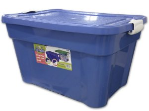 Caixa Organizadora 55 Litros Multiuso Azul Agraplast