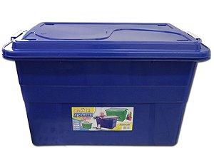 Caixa Organizadora 70 Litros Multiuso Azul Agraplast