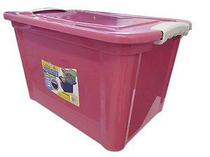 Caixa Organizadora 20 Litros Multiuso Rosa Agraplast