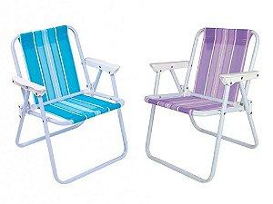 Cadeira Infantil Praia Aço Colors Mor