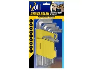 Chave Allen C/9 Pçs Pequeno FR10 UTIL