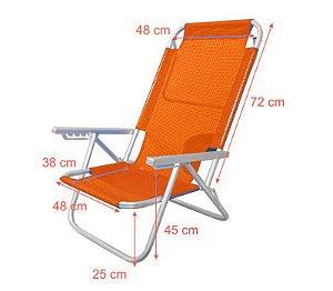 Cadeira Espreguiçadeira Onda Verão LARANJA JLV