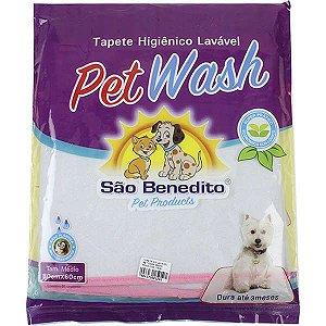 Tapete Higiênico Pet Wash Lavável Médio 80x60cm 18857 My Pet