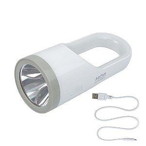 Lanterna Recarregável Branca 160 Lumens LED Mor