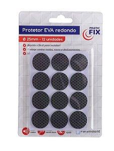Protetor Eva Adesivo Redondo Anti Impacto 25 mm 12 UN Paramount