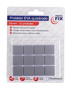 Protetor Adesivo Eva Quadrado 20 mm C/ 12 Un. 1338 Paramount
