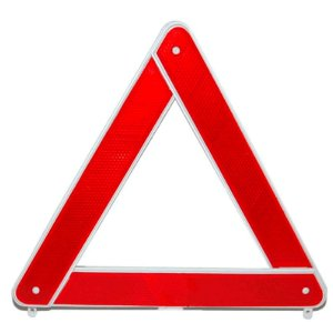 Triangulo de Segurança Branco P/ Veículos