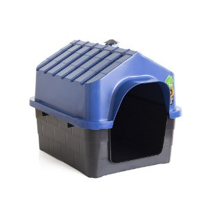 Casinha Casa De Cachorro Pet C/ Chaminé Luxo Ecológica Azul