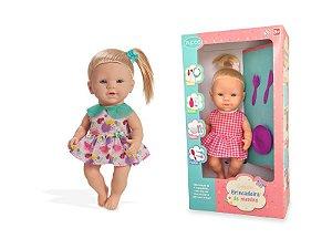 Boneca Bebe Menina Linha Quero Ser Mamãe PAPINHA 1163 Pupee