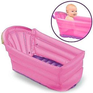 Banheira De Bebê Inflável Bath Buddy Rosa BB206 Multilaser