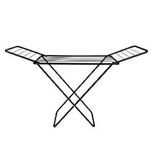 Varal de Roupa Para Chão Slim Com Abas Dobrável Em Aço