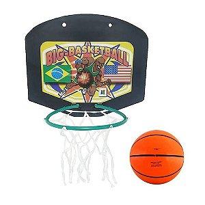 Tabela de Basquete Infantil C/ Mini Bola e Rede Basketball 810 Big Boy