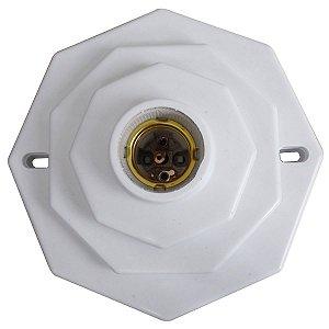 Plafon Decorativo Octagonal C/ Soquete 15x15cm Trioplast