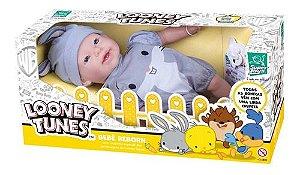 Boneca Infantil Reborn Looney Tunes PernaLonga 441 Super Toys