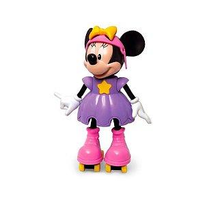 Brinquedo Infantil Boneca Minnie Patinadora Com Patins Elka
