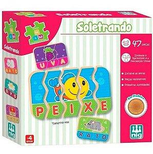 Brinquedo Soletrando Be a Bá Educativo 47 Pçs Nig Brinquedos