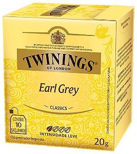 CHÁ TWININGS EARL GREY - 10 sachês