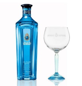GIN STAR OF BOMBAY 750 ML + TAÇA BOMBAY