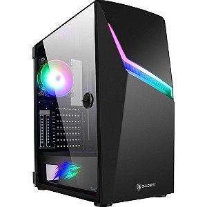 Gabinete Gamer Sades Niu RGB  vidro temperado suporte 8 fans