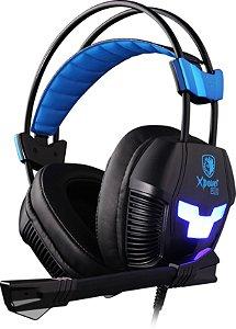 Fone Headset Gamer Usb Vibração Sades Sa-706s Xpower Plus
