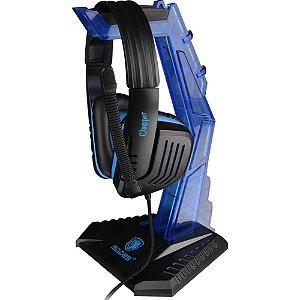 Suporte para Fone Headset Sades Acrílico Azul Wolfbone