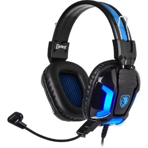 Fone Headset Gamer Usb P2 Iluminação Led Sades Element