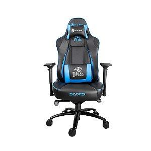 Cadeira Gamer Sades Draco Profissional 4d Frog Ergonomica Couro PU