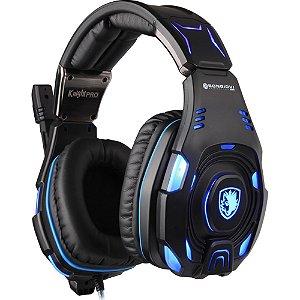 Sades Headset Knight Pro Gamer Profissional com Tecnologia Superior Bongiovi Acoustics
