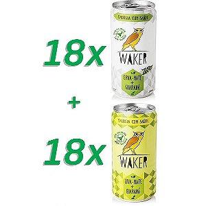 Combo: Waker Tradicional 18 unidades + Waker Zero 18 unidades