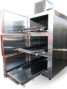Câmara Fria 03 Gavetas Aço Inox 304 -  220 Volts
