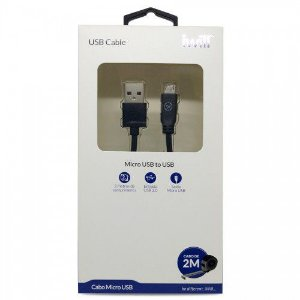 Cabo Micro USB Preto 2 metros