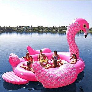 Boia Flamingo Super Gigante para 6 Pessoas