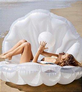 Boia Concha do Mar Pérola Gigante Luxo